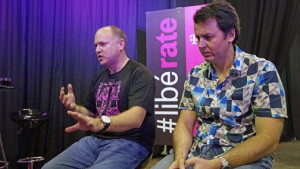 From left: Jon Freier, executive vice president, of field sales & operations for T-Mobile US and Jorge Martel, general manager of T-Mobile's local operation.
