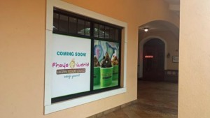 Strorefront in Plaza Suchville where one of four new Froyo World shops will soon open.