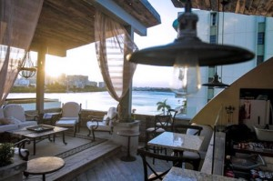 The 15-room O:live Boutique Hotel overlooks the Condado Lagoon in San Juan.