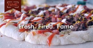 "The company's motto of ""You design it, we bake it!"" offers clients a chance to customize their pizza."