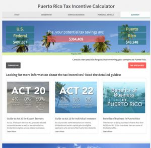 """The free """"Tax Incentive Calculator"""" provides information with less than 10 questions."""