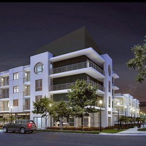 The development will result in the construction of 174 new apartment homes, including walk-up flats, townhouses and one elevator-served building.